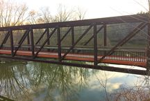 Hillside Bridge, Cuyahoga Valley National Park, Ohio / Trail bridge: Hillside Bridge, Cuyahoga Valley National Park, Cleveland, OH