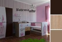 Girls' bedroom. Nursery bedroom. Princesses bedroom. / Girls' bedroom. Nursery bedroom. Princesses bedroom.