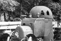 frühe Panzerwagen / Verteidigungswaffen