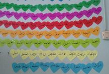 Islamic Classroom Decoration / Islamic education with crafts as visual media for kids in learning basic Islamic knowledge.