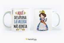 Patidifusa en FALLAS / Como buenas valencianas vivimos nuestra fiesta grande por todo lo alto. Y como no podía ser de otro modo, personalizamos con motivos típicos de estas fiestas nuestros productos.