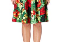 It's tiki time! / Go bold with fab floral tiki style prints! Perfect for those long hot summer days.