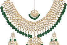 Indian Bollywood Dazzling Kundan Pearl Bridal Wedding Wear Jewelry Women necklace Set
