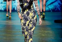 NYFW Anna Sui / Fashion creation by Anna Sui at the New York Fashion Week 2016