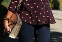 saia rodada curta com colete jeans