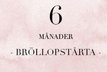 6 MÅN - Bröllopstårta