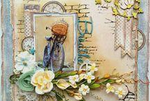 SCRAPBOOKING in allen Varianten Pinnwand 2 / wunderschöne Blumenkarten und vieles blumiges mehr