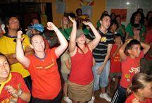 Mundial de Fútbol 2010 en el camp Campamentos de inglés GMR / Los campers celebraron en el campamento la copa del mundo de fútbol.