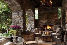 Stone Work on Homes / Stone Work Home Ideas