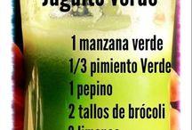 Bebidas verdes / by Bety Chavez