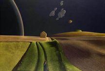 David Inshaw / David Inshaw digital prints of his most famous paintings.