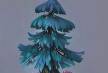 drzew, drzewka, rośliny