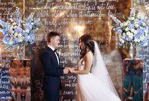 Gorgeous blue golden wedding on hotel Astoria, Saint-Petersburg