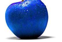 Azul y turquesa