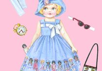 free paper dolls to print / by Jenny B.