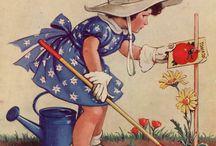 Vintage posters plants