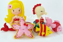 Ornaments and Embellishments / Hand-sewn felt ornaments and embellishments