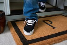 Personalized Doormats / A doormat is the first step towards creating an impression of yourself... so put your best foot forward. Choose from our line of personalized mats with your name or initials on it