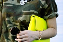 military + camouflage print