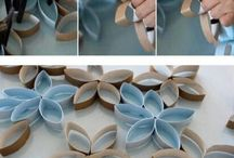 Toilet paper rolls wall decor