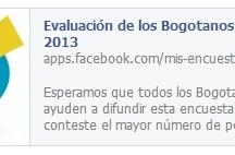 Encuesta Evaluación de los Bogotanos a la MEBOG 2013 / La encuesta estuvo a disposición de la ciudadanía durante un mes, el cual inició el 19 de Febrero y finalizó el pasado 19 de Marzo del 2013.  La evaluación fue respondida en línea gracias a una aplicación que facilita Facebook y que le permitió a los amigos de la Fundación Bogotá Mía responderla y compartirla con sus amigos. / by Fundación Bogotá Mía