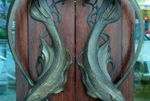 Art noveau doors