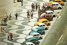 Brasil Retrô / O vintage em verde e amarelo em cores e preto e branco.