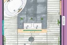 Badkamerontwerp / Hoe uw badkamer er straks uit komt te zien, is een kwestie van smaak. Daarnaast is dat afhankelijk van de beschikbare ruimte en vaste gegevens, zoals ramen en deuren.