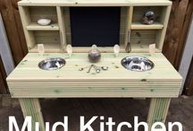 Mud kitchen/ofstead early years / Hand made mud kitchen