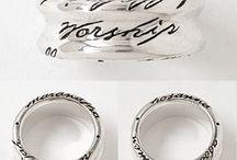 Ladies Christian Rings / Custom Made Sterling Silver Ladies Christian Rings - Made in the U.S.A.