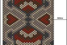 бисер пейот, мозаичное плетение. / украшения из бисера
