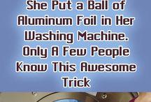 Foil in washing machine