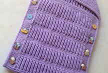 knitted baby sleeping sac