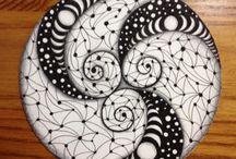 Cercles zentangles