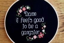cross stitch/ embroidery