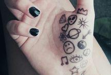 Grunge skin drawings