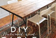 big wood table