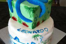 Leonardo's cake 3 year / cake design octopus