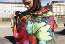 Woman Scarves - Spring Summer Collection 2014 / Florence - Tuscany