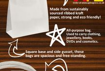 Carrier Bag Infographics / Fun, informative infographics about everything in the world of carrier bags.