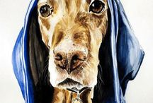 Hound & Lurcher portraits / A selection of lifelike, high end pet portraits from the Tilly & Blue range