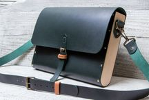 Leather wood bag