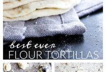 tortilla, quesadillas, buritos, tacos and naan
