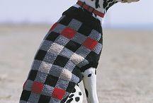 knitted dog warmer