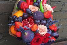 букеты из овощей, фруктов