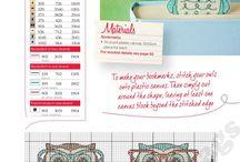 Cross stitch bookmarks