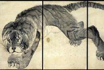(1754-1799)長沢芦雪 Nagasawa Rosetsu
