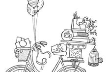 bike colouring page