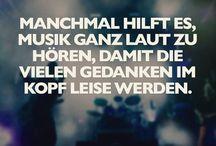 Musik - Bilder Zitate Wertvolles / Große Liebe - Musik