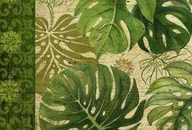 cuadro de hojas